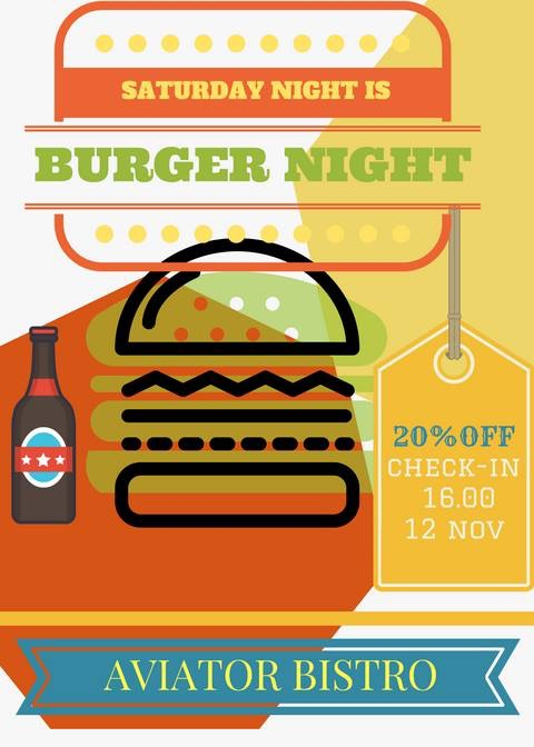 Aviator Boutique Hotel - Otopeni - Burger Night